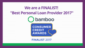 Bamboo is a Consumer Credit Awards 2017 finalist