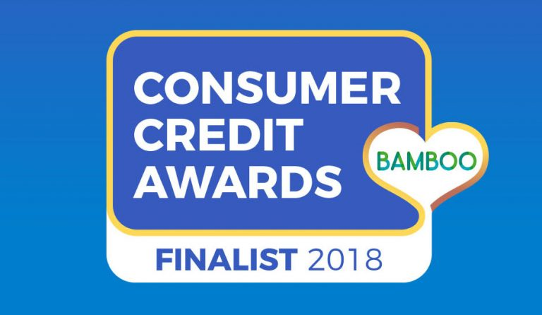 Bamboo Loans are finalists in the Consumer Credit Awards 2018