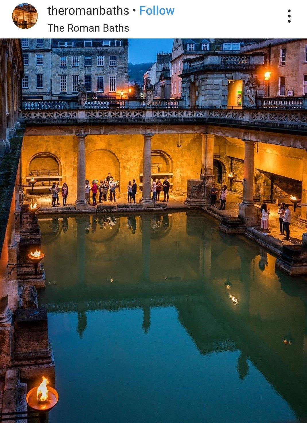 The Baths that gave Bath it's name.