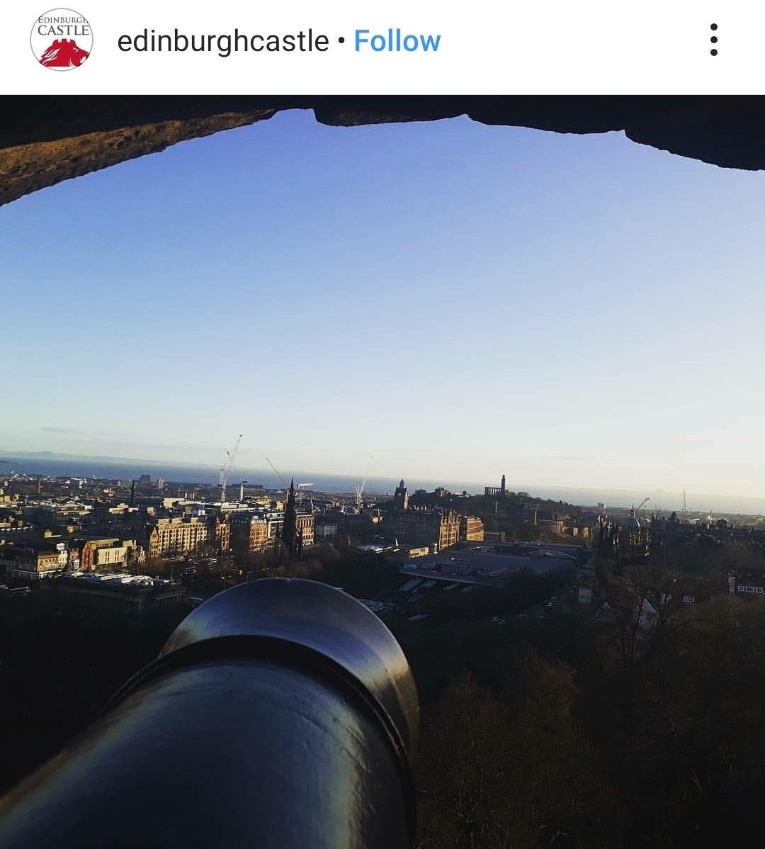 View of the city of Edinburgh from the castle.